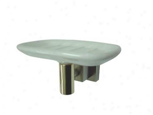 Desivner Trimscape Bah9645snpb Claremont Soap Dish, Polished Brass/satin Nickel