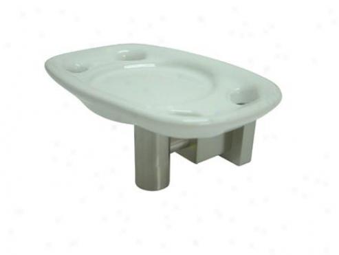 Designer Trimscape Bah8646sn Claremont Toothbrush/tumbler Holder, Satin Nickel