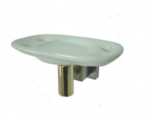 Designer Trimscape Bah8646snpb Claremont Toothrush/tumbler Holder, Refined Brass/satin Nuckel