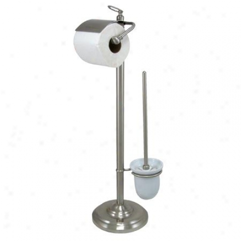 Designer Trimscape Cc2018 7-1/2 Base Pedestal Toilet Paper Holder, Satin Nickel