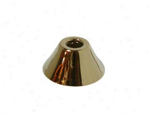 Designer Trimscape Flbell582 5/8 Overal Diameter Bell Flange, Polished Brass