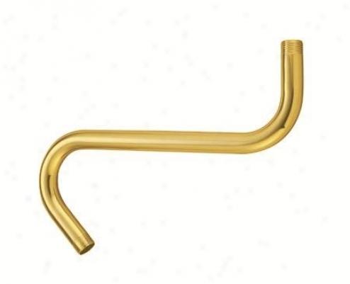 Designer Trimscape K152a2 8 S Shape Shower Arm, Polished Brass