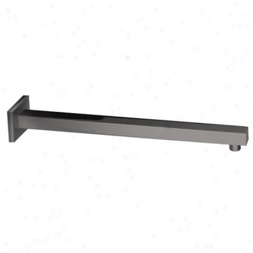 Designer Trimscape K4168 15.7 Brass Squae Shower Arm, Satin Nickel