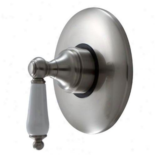 Designer Trimscape Kb3008pl Volume Control With Pl Handle, Satin Nickel