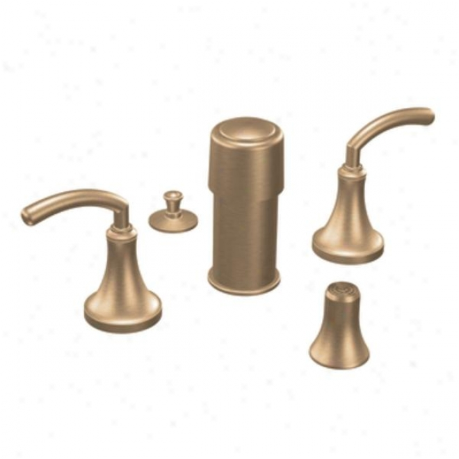 Donner Premier Ts5215bb Icon Two-handle Bidet Faucet, Brushed Bronze