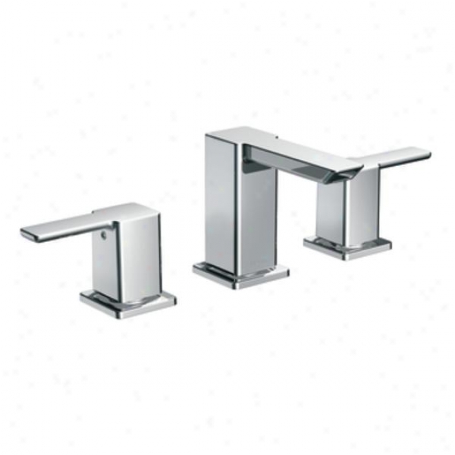 Donner Premier Ts6720 90 Degree Two-handle Low Arc Bathroom Faucet, Chrome