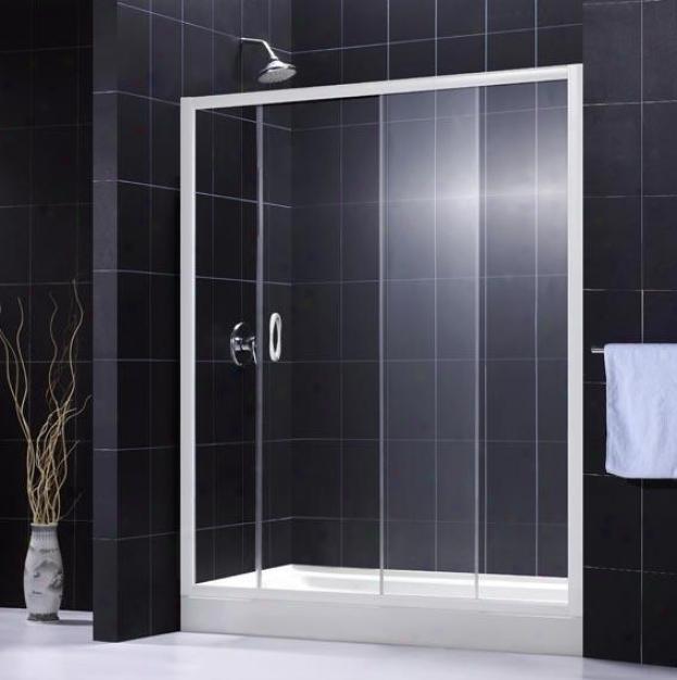 Dreamline Dl-6002c-01cl Infinity Shower Door & Tray Combo, Chrome