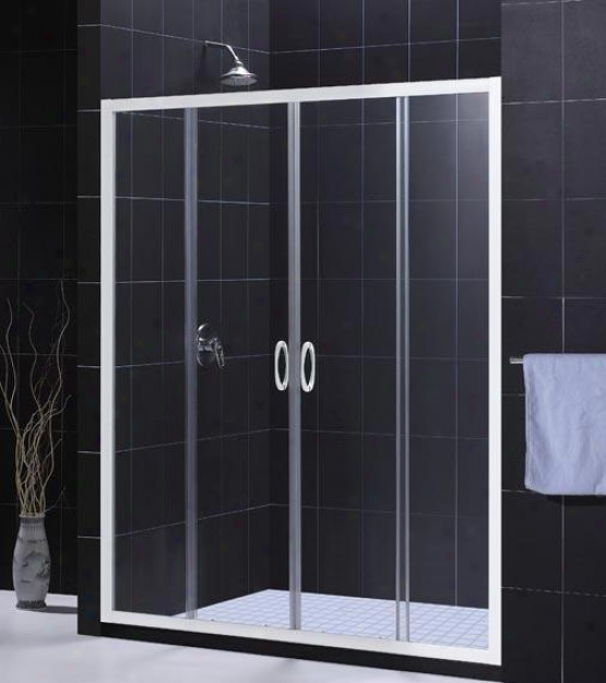 Dreamline Dl-6011-r01cl Visions Shower Door & Tray Combo, Chrome