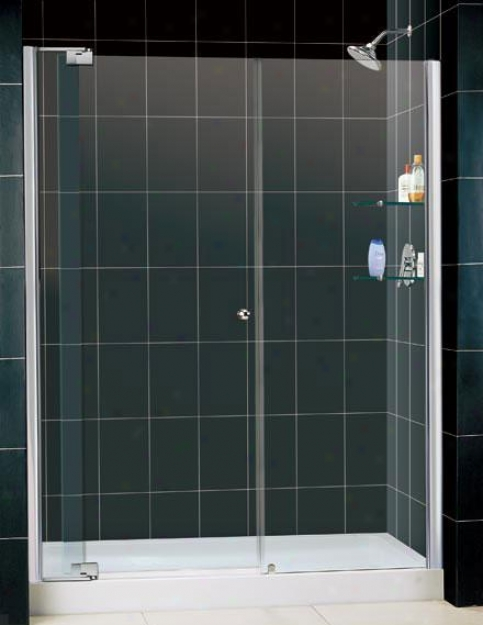 Dreamline Dl-6421r-01cl Allure Shower Door & Tray Combo, Chrome