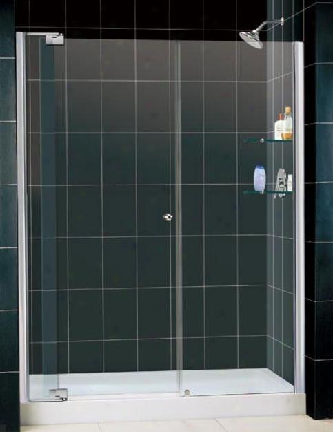 Dreamline Dl-6428c-01cl Allure Shower Door & Waiter Combo, Chrome