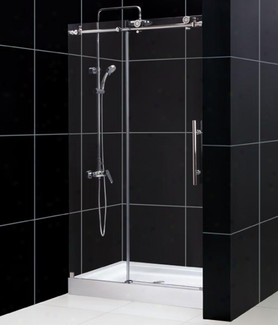 Dreamline Dl-6618c-08cl Enigma-x Clear Glass Shower Door With 36 X 48 Trio Center Drain Shower Bas