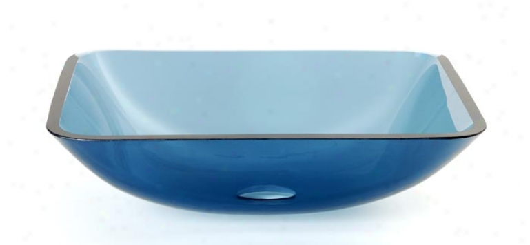 Dreamline Dlbg-17-bu Natural Color Glass Bowl, Blue