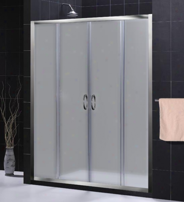 Dreamline Shdr-1160726-04-fr Vosions Shower Door, Brushed Nickel