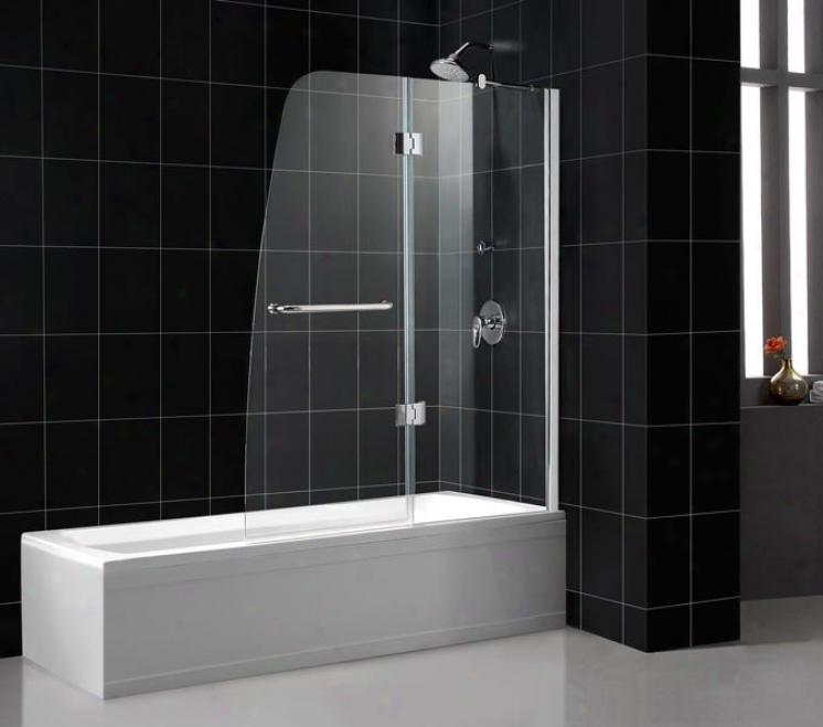 Dreamline Shdt-3148586-01 Aqua-c Hinged Tub Door, Clear Glass