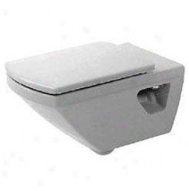 Duravit 00656l Caro Wallmount Toilet Elongated Seat And Cover, Happy