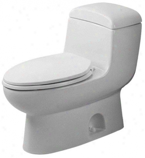 Duravit 0157010003 Architec Metro One-piece Us-type Elongated Toilet, White