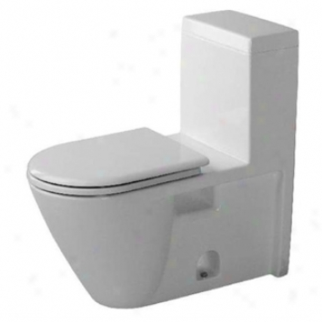 Duravit 0163010005 Starck 2 Elongated One-piece Toilet, White