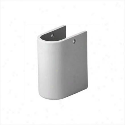 Duravit 0865170000 Starck 3 Siphon Cover For Starck 3 Handrins eBasin, White