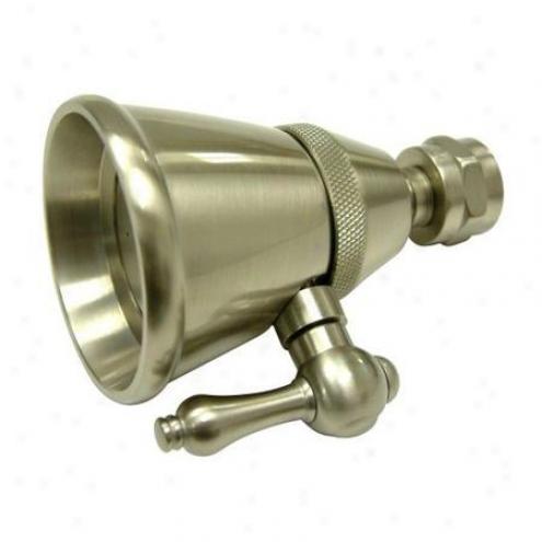 Elements Of Draw Dk1328 Hot Springs 2 1/4 Adjustable Spray Shower Head, Satin Nickel