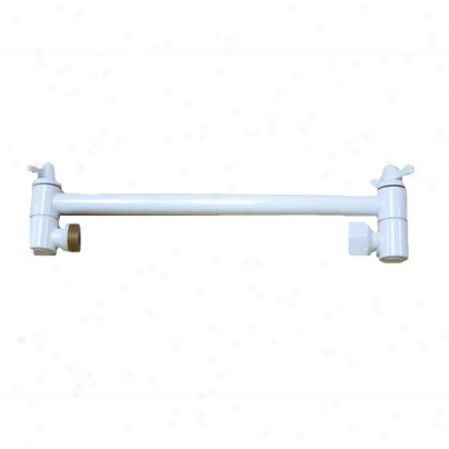 Elements Of Design Dk1536 10 High-low Adjustable Shower Arm, White