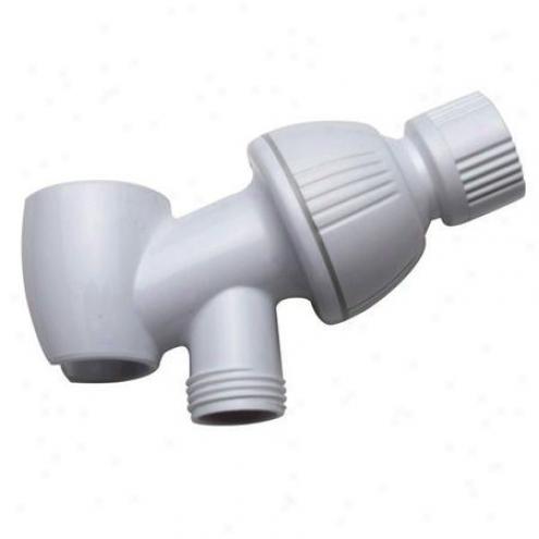 Elements Of Design Dk170w1 Plumbing Parts Shower Take ~s Bracket, White