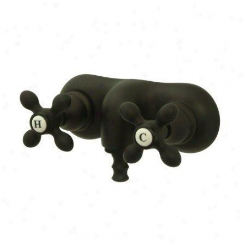 Elsments Of Design Dt0415ax Hot Springs Wall Mount Clawfoot Tub Filler, Oil Rubbed Bronze