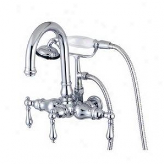 Elements Of Design Dt30141pl Wall Mount Clawfoot Tub Filler, Chrome