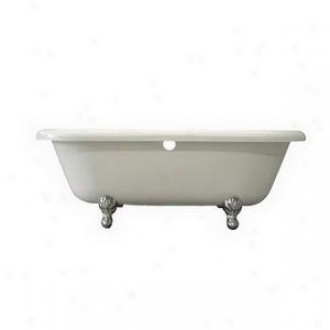 Elements Of Design Eatds673023h2 Acrylic Tub With Polish Brass Constantine Lion Feet, Whiet