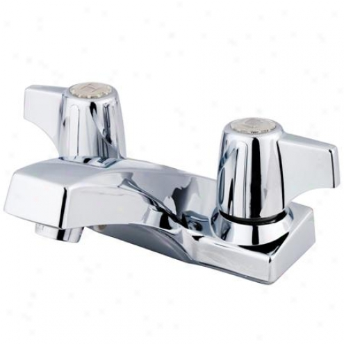 Elements Of Design Eb100lp Columbia Two Handle 4 Centerset Lavatory Faucet, Polished Chrome