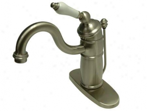 Elements Of Design Eb1408pl Hot Springs Single Handle Mono Devk Lavatory Faucet With Pop-up And Opti