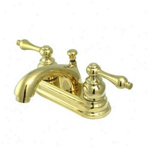 Elements Of Contrivance Eb2602al St. Regis Two Handle 4 Centerset Lavatory Faucet With Pop-up, Polished