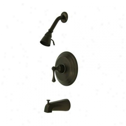 Elements Of Design Eb2635bl New York Single Handle Tub And Shower Faucet, Oil Rubbed Bronze