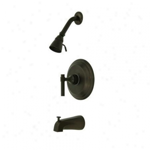 Elements Of Design Eb2635ml New York Single Handle Tub And Shower Faucet, Oil Rubbed Bronze