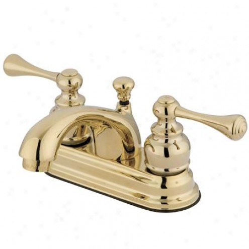 Elements Of Design Eb3602bl St. Louis Two Handle 4 Centerset Lavatory Faucet With Pop-up, Polished