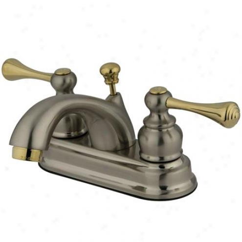 Elemens Of Design Eb3609bl St. Louis Two Handle 4 Centerset Lavatory Faucet Wirh Pop-up, Satin Nic