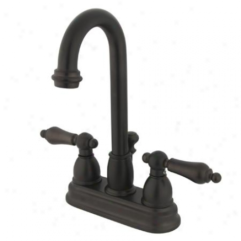 Elements Of Design Eb3615al Chicago Two Handle 4 Centerset Lavatory Faucet With Pop-up, Ojl Rubbed