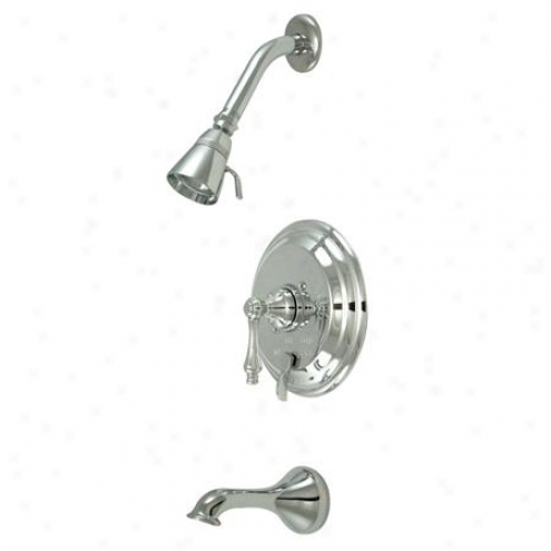 Elements Of Design Eb36310al New Orleans Single Handle Tub And Shwer Faucet, Polished Chrome