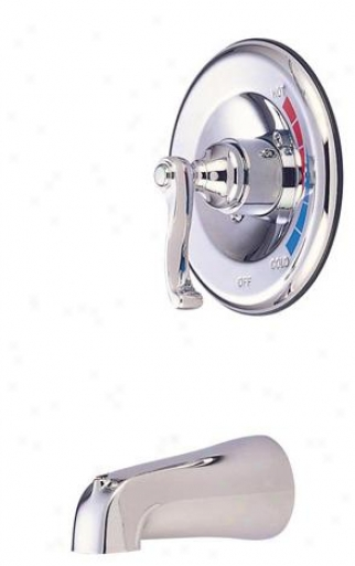 Elements Of Design Eb8631flto Atlanta Single Handle Tub Faucet, Polished Chrome