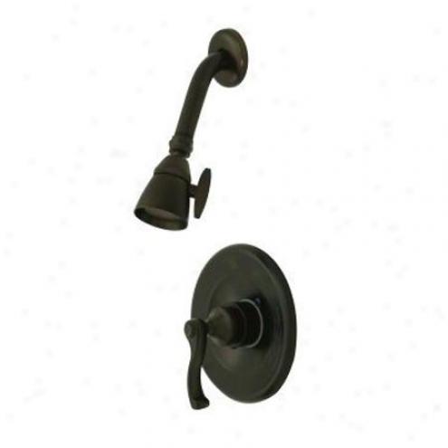 Elements Of Design Eb8635flso Atlanta Single Handle Shower Faucet, Oil Rubbed Bronze