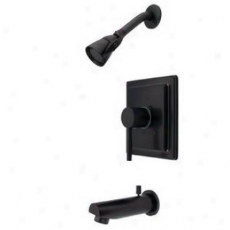 Elements Of Design Eb8655dl Tub/shower Faucet Pressure Balanced, Oil Rubbed Bronze