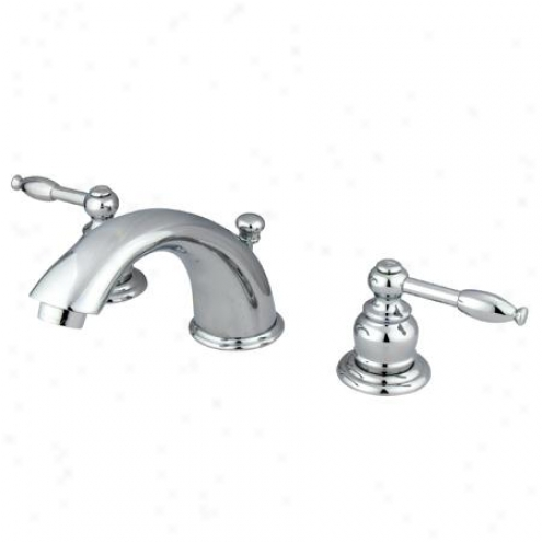 Elementd Of Design Eb961kl Magellan Two Handle 4 To 8 Mini Widespread Lavatory Faucet With Pop-up,