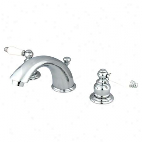 Elements Of Design Eb961pl Magellan Two Handle 4 To 8 Mini Widespread Lavatory Faucet With Pop-up,