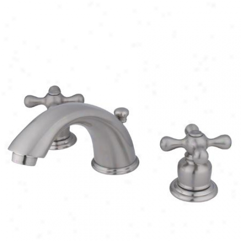 Elements Of Design Eb968ax Magellan Two Handle 4 To 8 Mini Widespread Lavatory Faucet With Pop-up,