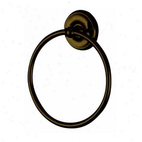 Elements Of Design Eba314orb Elizabeth 6 Towel Ring, Oil Rubbed Bronze
