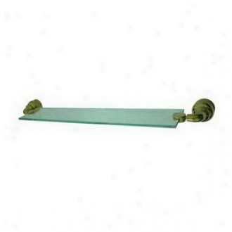 Elemehts Of Design Eba609pb Glass Shelf, Polished Brass