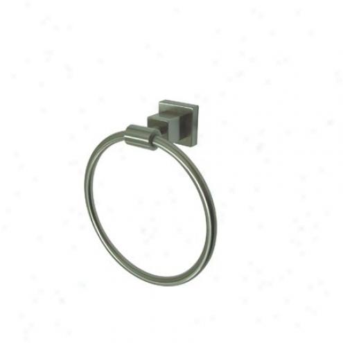 Elements Of Design Ebah8644sn Tempa 6 Towel Ring, Satin Nickel