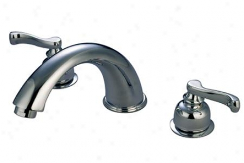 Elements Of Design Ec8367 Royale Roman Tub Filler French Scroll Touch, Satin Nickei And Chrome