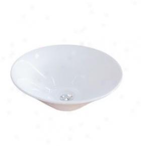 Elements Of Design Edv4307 Soho Tube Sink, White
