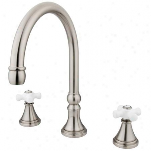 Elements Of Design Es2348px Madison Two Handie Roman Tub Filler, Satin Nickel