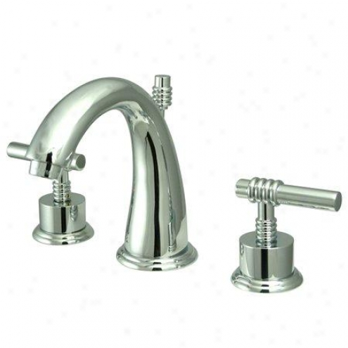 Elements Of Design Es291ml Milano Pair Handle 8 To 16 Widespread Lavatory Faucet With Brass Pop-ip